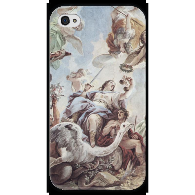 Чехол для iPhone 4 глянцевый, с полной запечаткой Printio Правосудие (лука джордано)