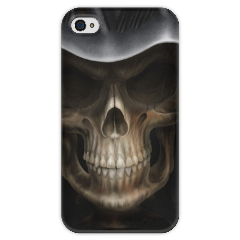 Чехол для iPhone 4 глянцевый, с полной запечаткой Printio Череп в капюшоне чехол для iphone 4 глянцевый с полной запечаткой printio череп