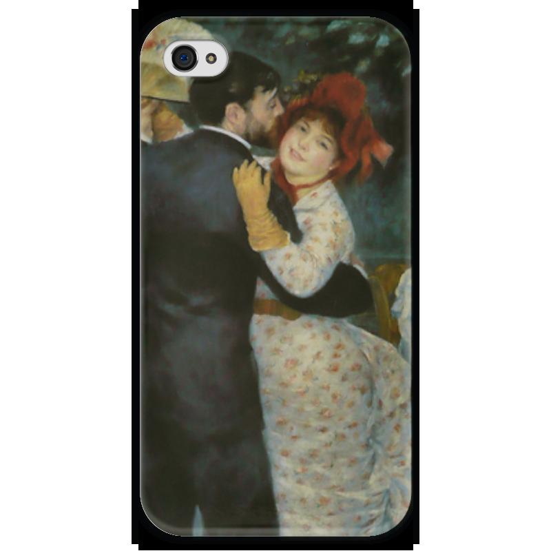 Чехол для iPhone 4 глянцевый, с полной запечаткой Printio Танец в деревне (пьер огюст ренуар) чехол для iphone 6 глянцевый printio бал в мулен де ла галетт ренуар
