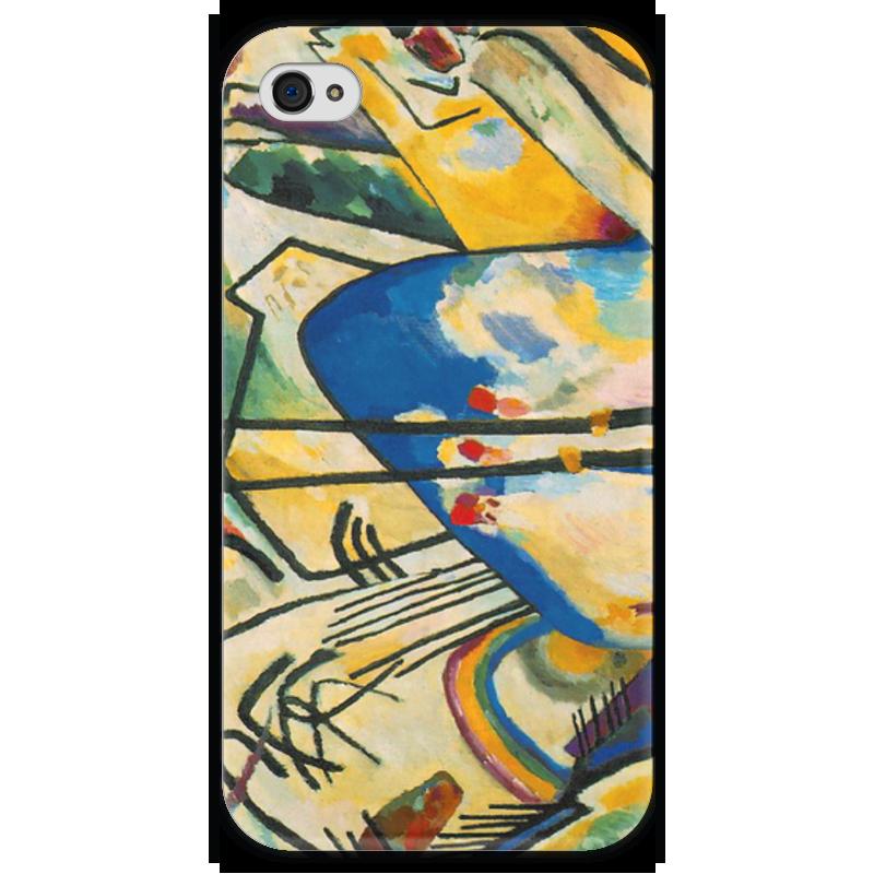 Чехол для iPhone 4 глянцевый, с полной запечаткой Printio Композиция iv (василий кандинский) торт printio points василий кандинский