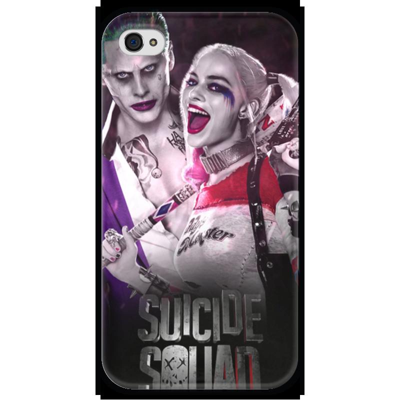 Чехол для iPhone 4 глянцевый, с полной запечаткой Printio Отряд самоубийц чехол для iphone 7 глянцевый printio отряд самоубийц