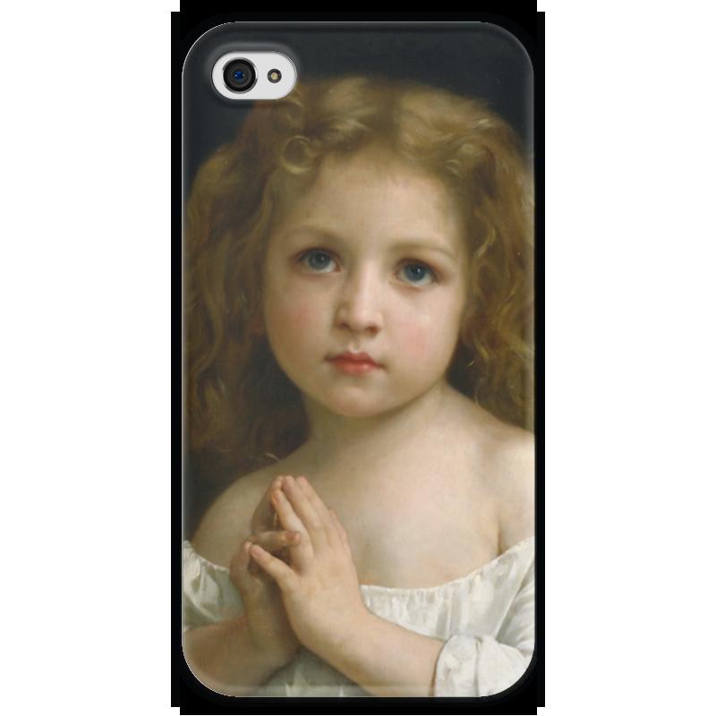 Чехол для iPhone 4 глянцевый, с полной запечаткой Printio Молитва (la prière) чехол для iphone 5 глянцевый с полной запечаткой printio последняя молитва христианских мучеников жером