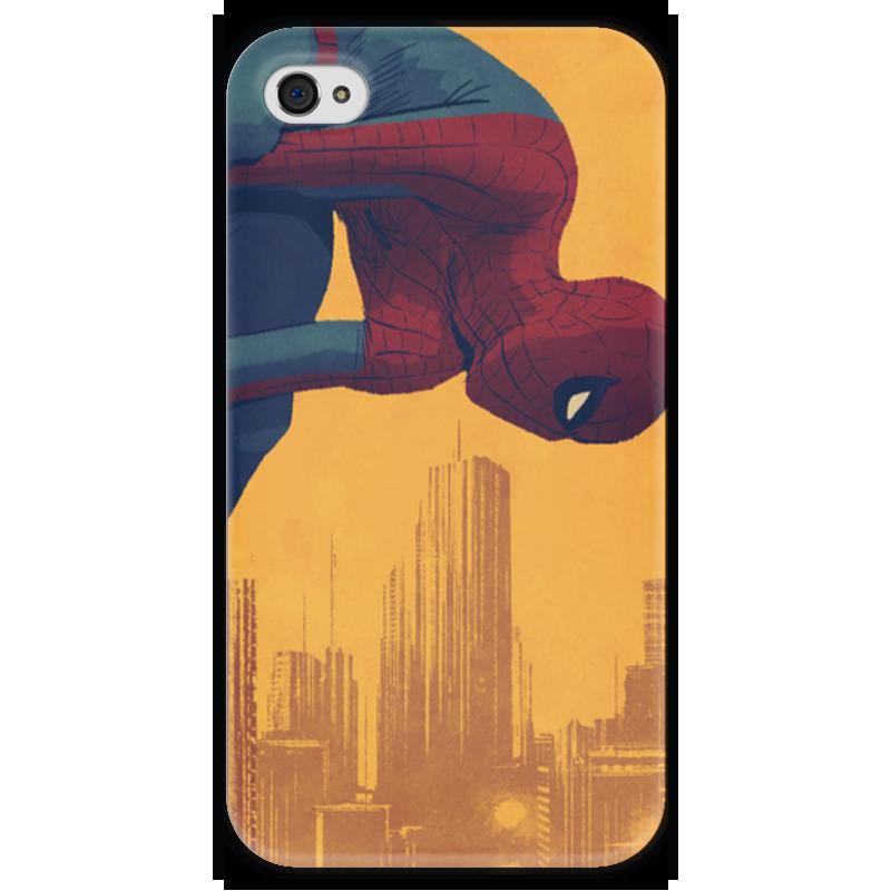 Чехол для iPhone 4 глянцевый, с полной запечаткой Printio Человек-паук паук 4 1 на ниву