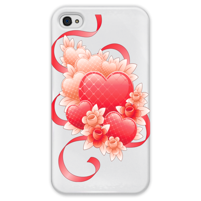 Чехол для iPhone 4 глянцевый, с полной запечаткой Printio Любимой на 14 февраля чехол для iphone 4 глянцевый с полной запечаткой printio сад на улице корто сад на монмартре ренуар