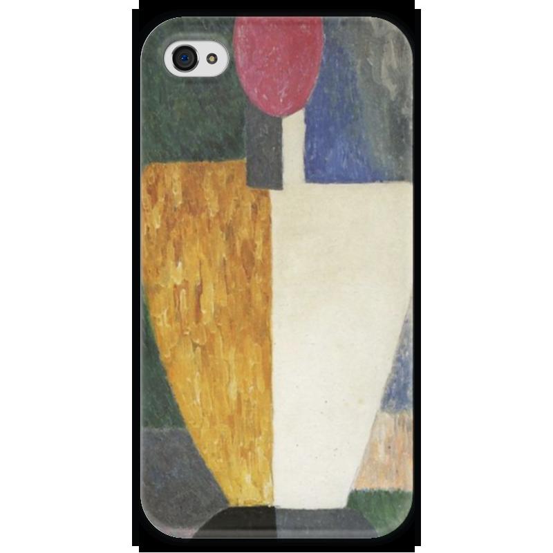 Чехол для iPhone 4 глянцевый, с полной запечаткой Printio Торс (фигура с розовым лицом) (малевич) чехол для samsung galaxy s5 printio торс фигура с розовым лицом малевич