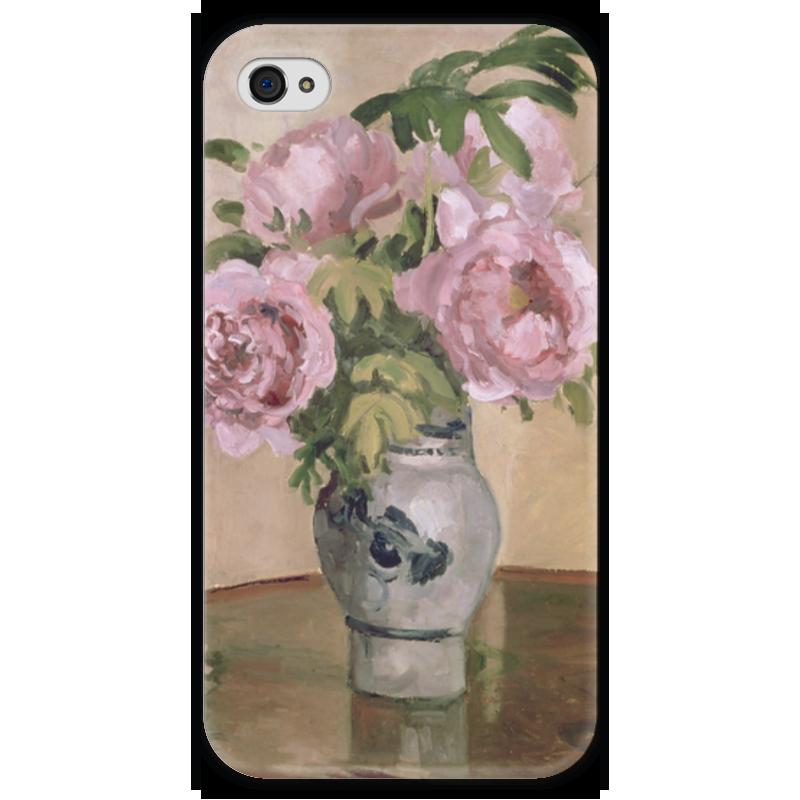 Чехол для iPhone 4 глянцевый, с полной запечаткой Printio Розовые пионы чехол для iphone 4 глянцевый с полной запечаткой printio эфиопка