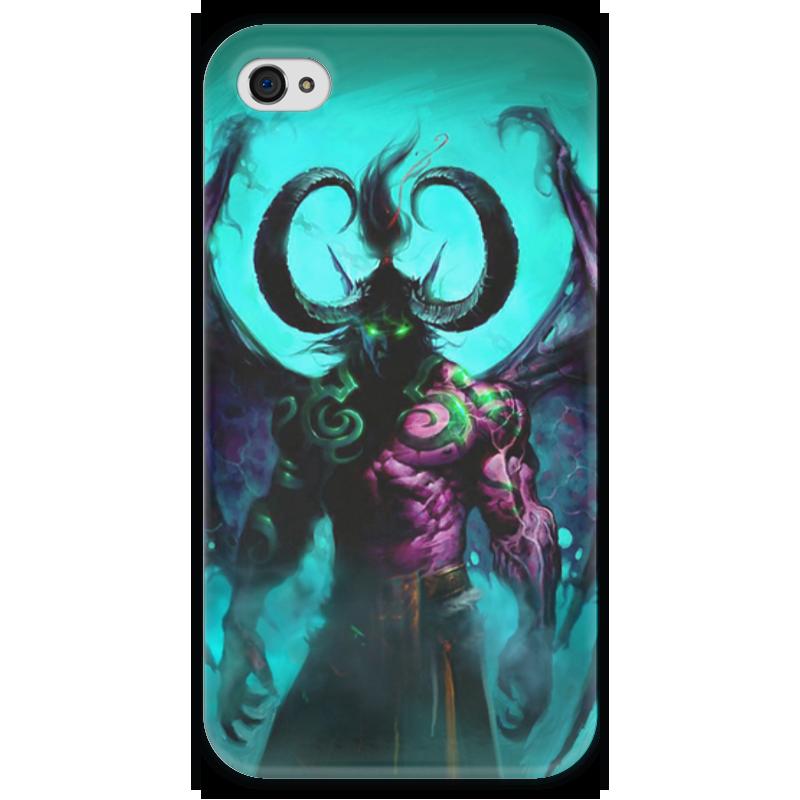 Чехол для iPhone 4 глянцевый, с полной запечаткой Printio Warcraft collection: illidan чехол для iphone 4 глянцевый с полной запечаткой printio warcraft collection panda