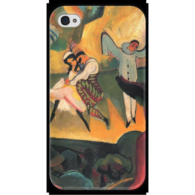 Чехол для iPhone 4 глянцевый, с полной запечаткой Printio Русский балет (август маке) чехол для iphone 4 глянцевый с полной запечаткой printio шляпный магазин август маке