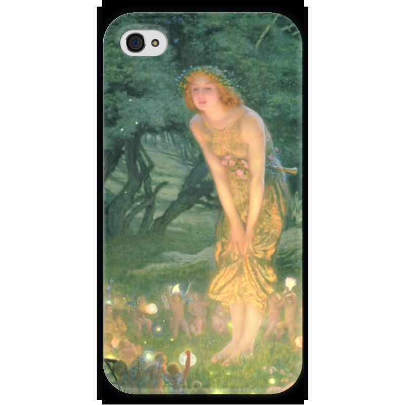 Чехол для iPhone 4 глянцевый, с полной запечаткой Printio Летнее солнцестояние (эдвард роберт хьюз) гэлбрейт роберт шелкопряд роман