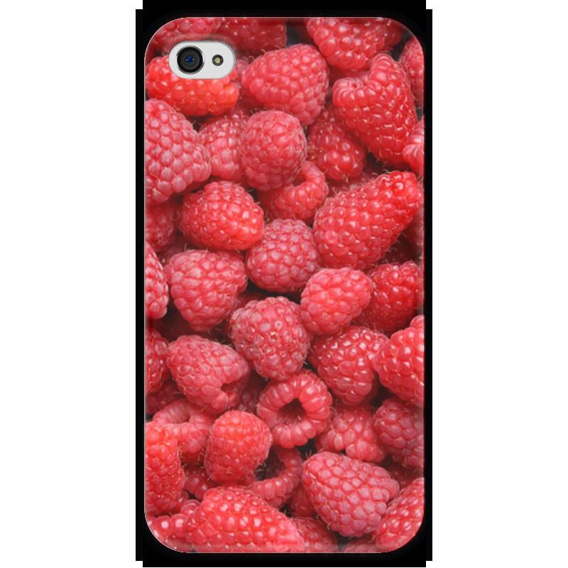 Чехол для iPhone 4 глянцевый, с полной запечаткой Printio Малина чехол для iphone 4 глянцевый с полной запечаткой printio ананас