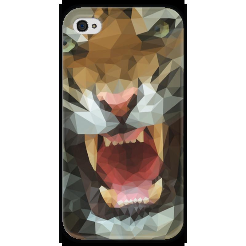 Чехол для iPhone 4 глянцевый, с полной запечаткой Printio Polygon tiger чехол для iphone 4 глянцевый с полной запечаткой printio эфиопка
