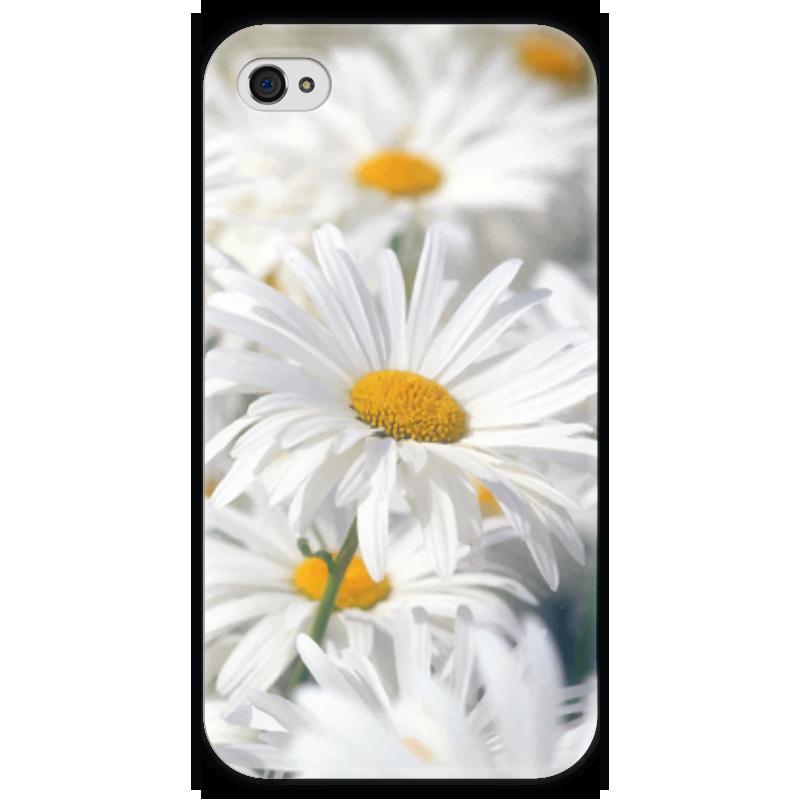 Чехол для iPhone 4 глянцевый, с полной запечаткой Printio Ромашки чехол для iphone 4 глянцевый с полной запечаткой printio эфиопка