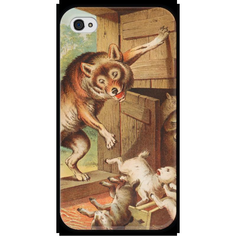 Чехол для iPhone 4 глянцевый, с полной запечаткой Printio Волк и семеро козлят азбукварик книга с музыкальным модулем волк и семеро козлят