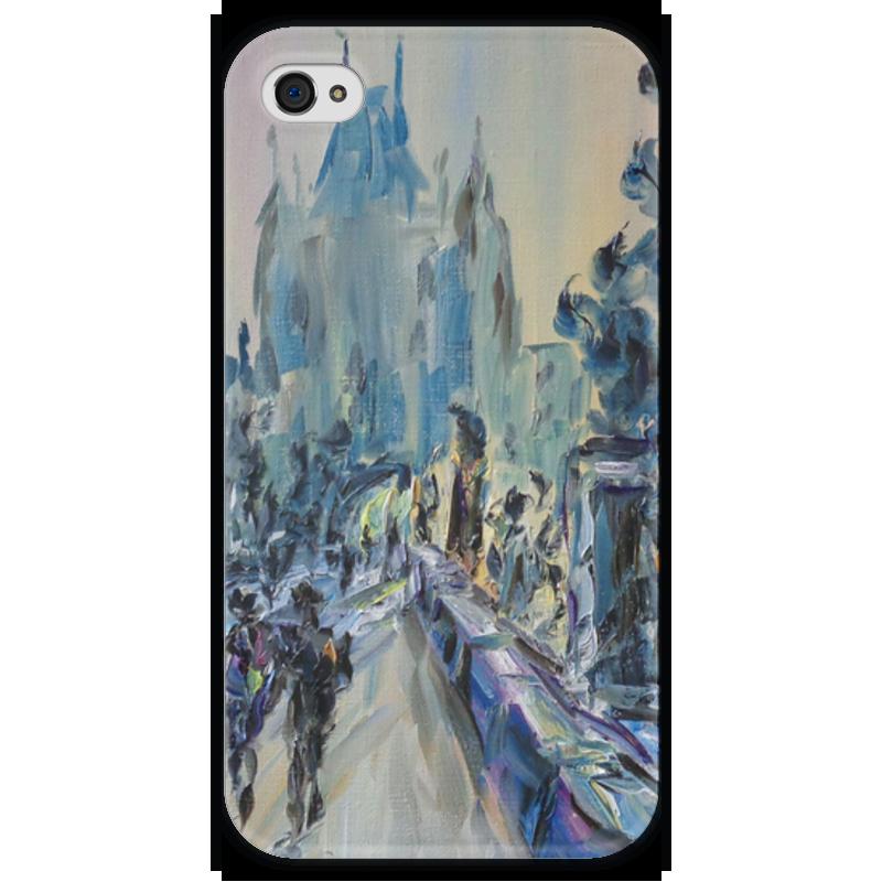 Чехол для iPhone 4 глянцевый, с полной запечаткой Printio Карлов мост чехол для iphone 4 глянцевый с полной запечаткой printio эфиопка