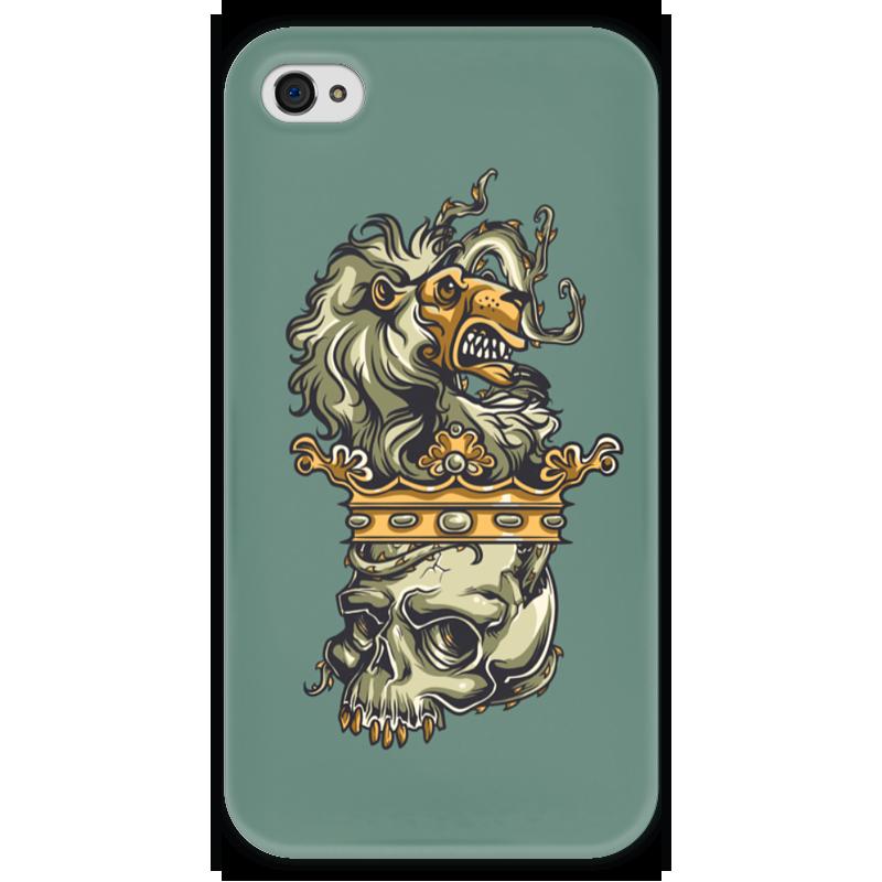Чехол для iPhone 4 глянцевый, с полной запечаткой Printio Череп и лев чехол для iphone 4 глянцевый с полной запечаткой printio эфиопка