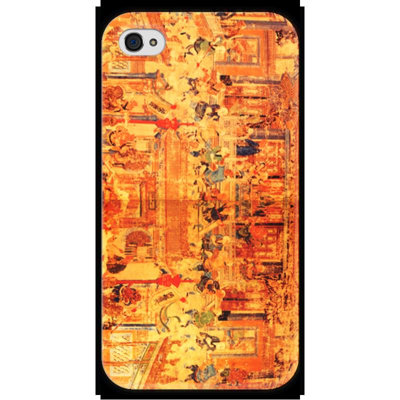 Чехол для iPhone 4 глянцевый, с полной запечаткой Printio Шаолинь оптом из китая копии iphone