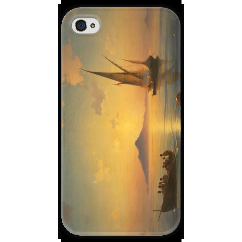 Чехол для iPhone 4 глянцевый, с полной запечаткой Printio Неаполитанский залив настенные часы русский меценат рм 766