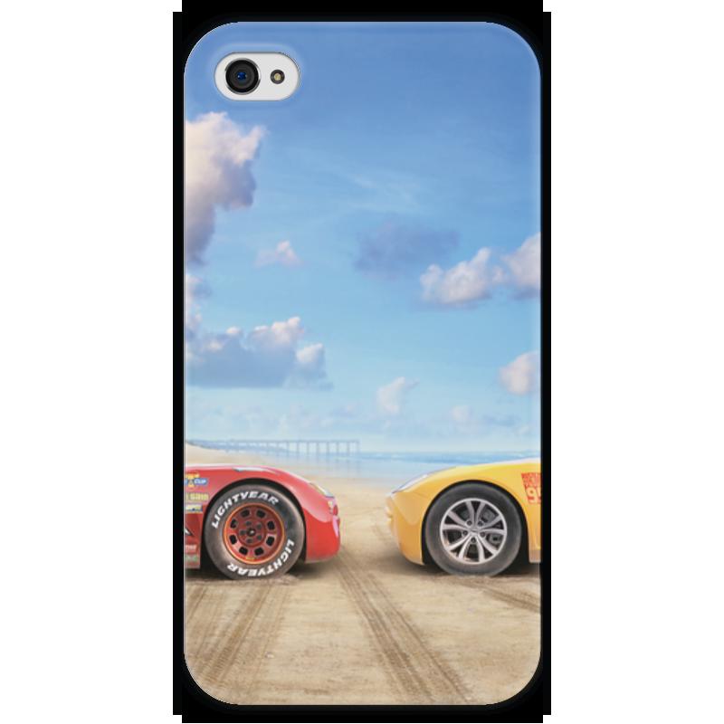 Чехол для iPhone 4 глянцевый, с полной запечаткой Printio Тачки чехол для iphone 4 глянцевый с полной запечаткой printio куртизанка courtesan after eisen