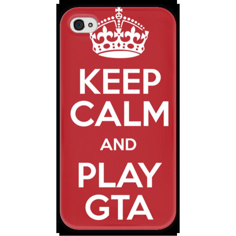 Чехол для iPhone 4 глянцевый, с полной запечаткой Printio Gta 5 gta 4 liberty city ключ