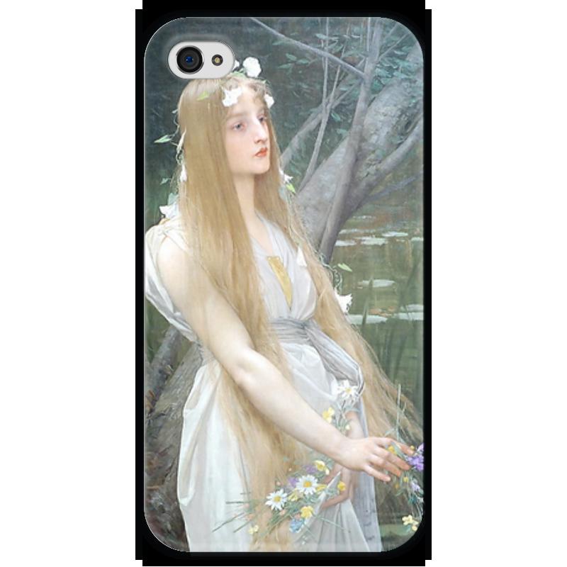 Чехол для iPhone 4 глянцевый, с полной запечаткой Printio Офелия (ophelia) кровать офелия