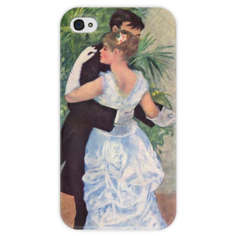 Чехол для iPhone 4 глянцевый, с полной запечаткой Printio Танец в городе (пьер огюст ренуар) чехол для iphone 4 глянцевый с полной запечаткой printio сад на улице корто сад на монмартре ренуар
