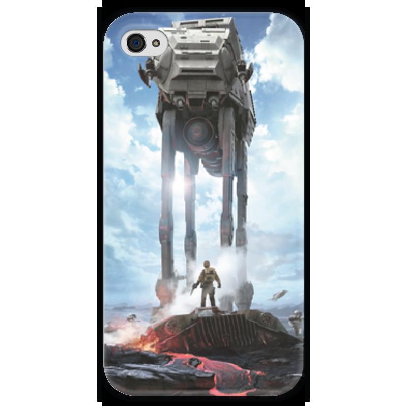 Чехол для iPhone 4 глянцевый, с полной запечаткой Printio Star wars чехол для iphone 4 глянцевый с полной запечаткой printio эфиопка