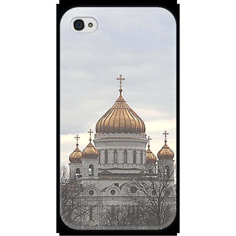 Чехол для iPhone 4 глянцевый, с полной запечаткой Printio Храм христа спасителя чехол для iphone 4 глянцевый с полной запечаткой printio эфиопка