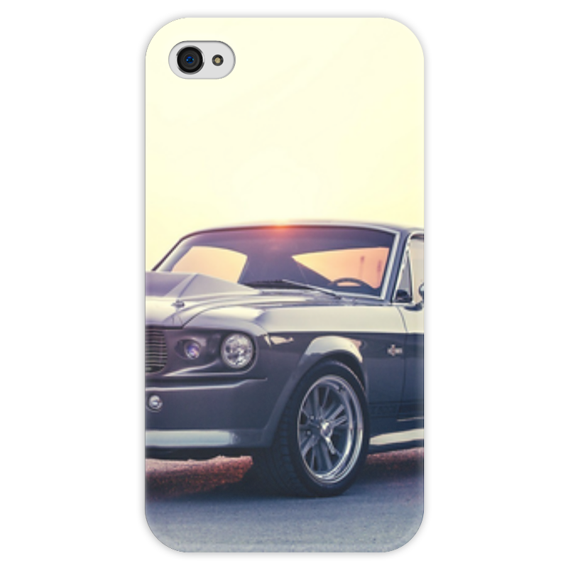 Чехол для iPhone 4 глянцевый, с полной запечаткой Printio Ford mustang shelby gt500 eleanor 1967 carnival is detonated the gt 500 shelby cobra muscle car jada 1 18 simulation models