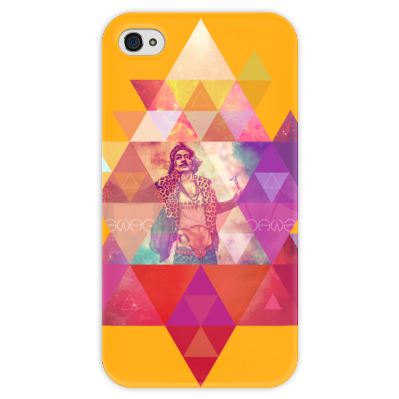 Чехол для iPhone 4 глянцевый, с полной запечаткой Printio hipsta swag collection: salvador dali