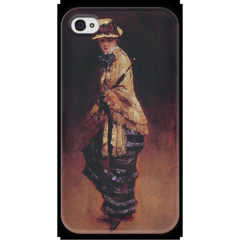 Чехол для iPhone 4 глянцевый, с полной запечаткой Printio Молодая парижанка (жан беро) салонный фильтр мазда демио dy3w