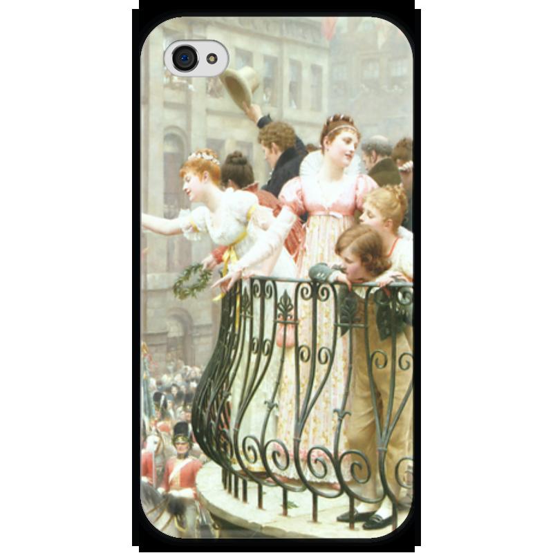 Чехол для iPhone 4 глянцевый, с полной запечаткой Printio 1816 (эдмунд блэр лейтон) электропила patriot es 1816