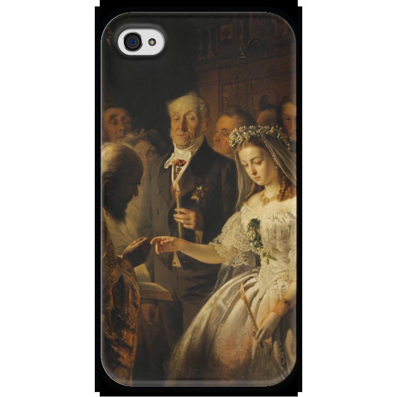 Чехол для iPhone 4 глянцевый, с полной запечаткой Printio Неравный брак (картина василия пикурева) берсенева а неравный брак