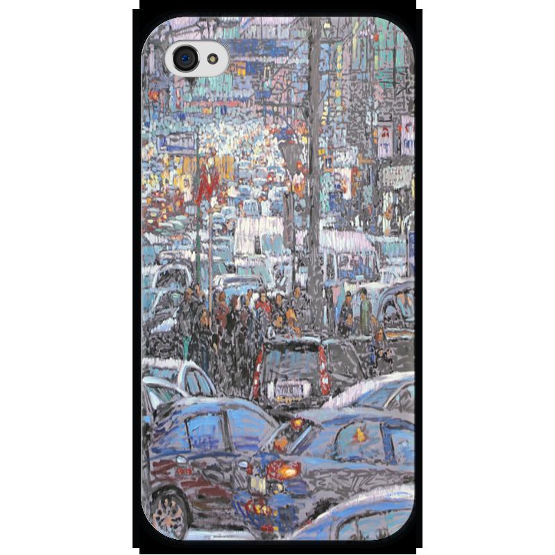 Чехол для iPhone 4 глянцевый, с полной запечаткой Printio Охотный ряд чехол для iphone 4 глянцевый с полной запечаткой printio эфиопка