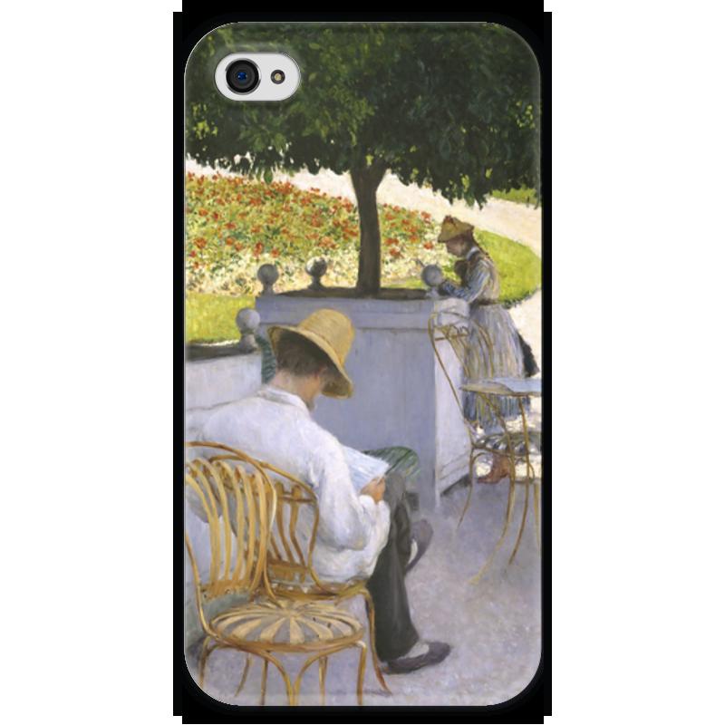 Чехол для iPhone 4 глянцевый, с полной запечаткой Printio Апельсиновые деревья (картина кайботта) nathalia brodskaya caillebotte