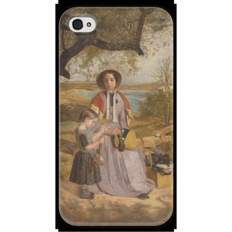 Чехол для iPhone 4 глянцевый, с полной запечаткой Printio Мать и дитя (джеймс коллинсон) большая энциклопедия мать и дитя