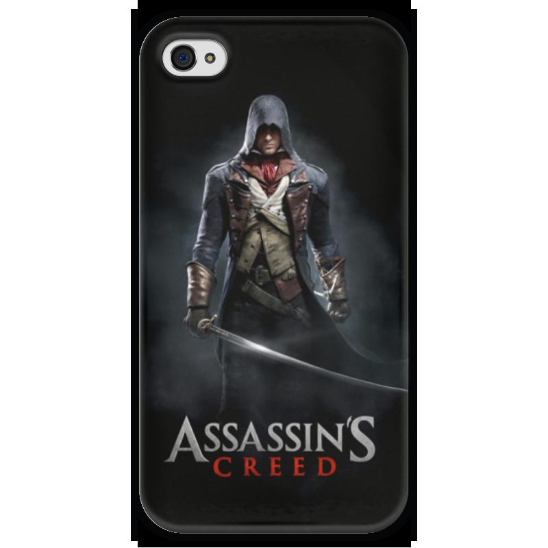 Чехол для iPhone 4 глянцевый, с полной запечаткой Printio Assassins creed (unity arno) uncanny avengers unity volume 4 red skull