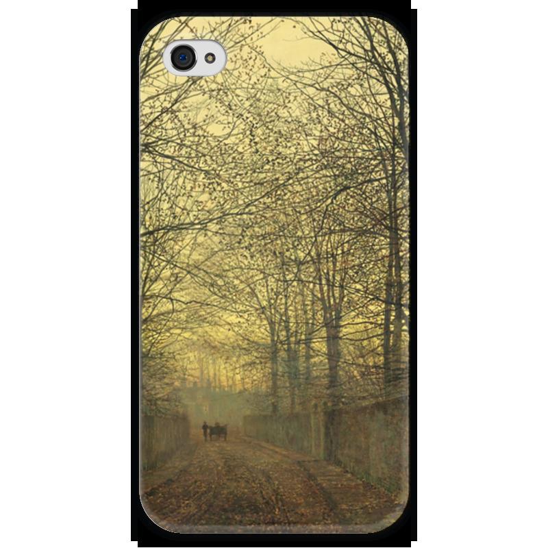 Чехол для iPhone 4 глянцевый, с полной запечаткой Printio Золотой октябрь (джон эткинсон гримшоу)
