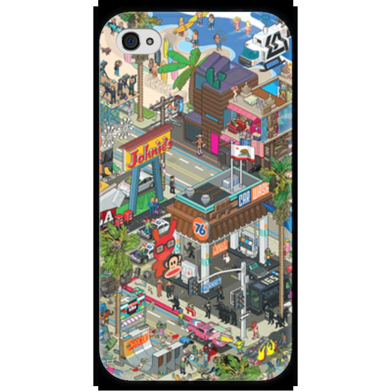 Чехол для iPhone 4 глянцевый, с полной запечаткой Printio Лос-анджелес гербер кэтрин лос анджелес