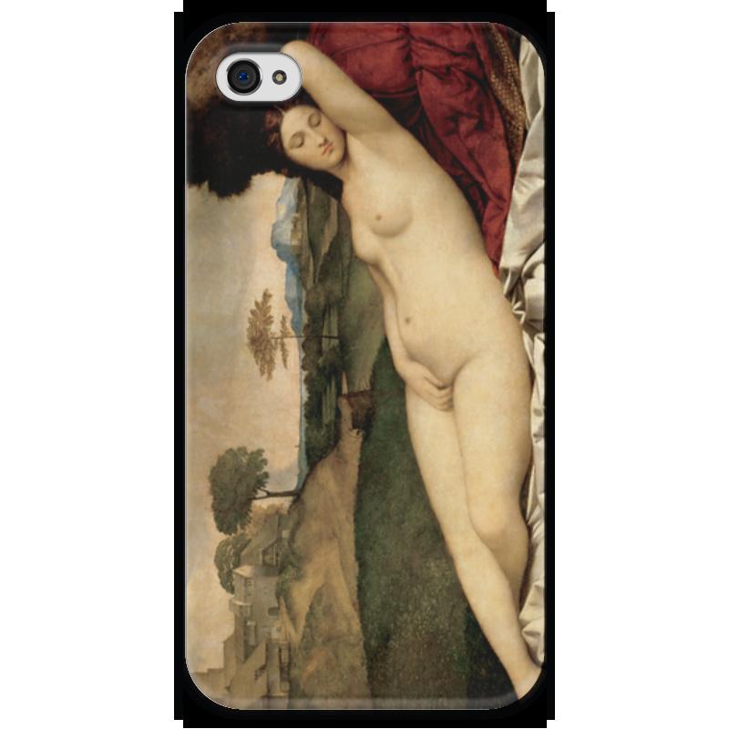 Чехол для iPhone 4 глянцевый, с полной запечаткой Printio Спящая венера (джорджоне) чехол для iphone 6 глянцевый printio спящая красавица сказка