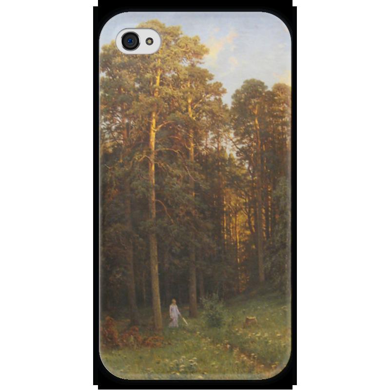 Чехол для iPhone 4 глянцевый, с полной запечаткой Printio На опушке соснового леса (иван шишкин) иван бунин жизнь арсеньева