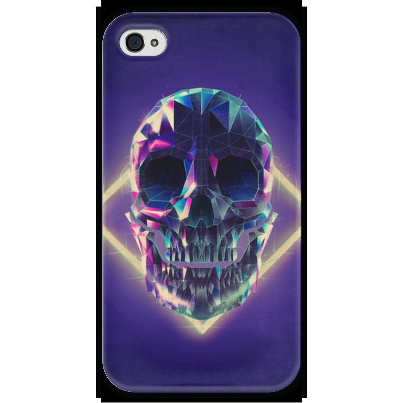 Чехол для iPhone 4 глянцевый, с полной запечаткой Printio Low poly skull чехол для iphone 4 глянцевый с полной запечаткой printio skull girl