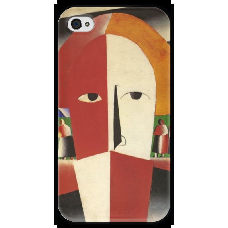Чехол для iPhone 4 глянцевый, с полной запечаткой Printio Голова крестьянина (казимир малевич)