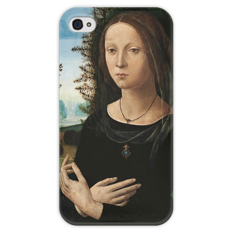 Чехол для iPhone 4 глянцевый, с полной запечаткой Printio Портрет молодой женщины чехол для iphone 4 глянцевый с полной запечаткой printio портрет лоренцо медичи