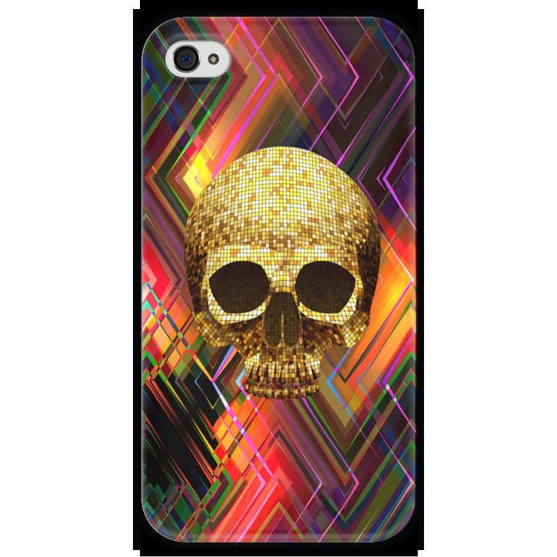 Чехол для iPhone 4 глянцевый, с полной запечаткой Printio Черепушка чехол для iphone 4 глянцевый с полной запечаткой printio эфиопка