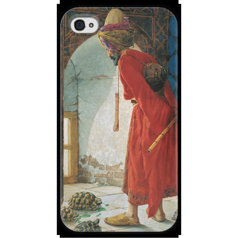 Чехол для iPhone 4 глянцевый, с полной запечаткой Printio Дрессировщик черепах островок для водных черепах киев