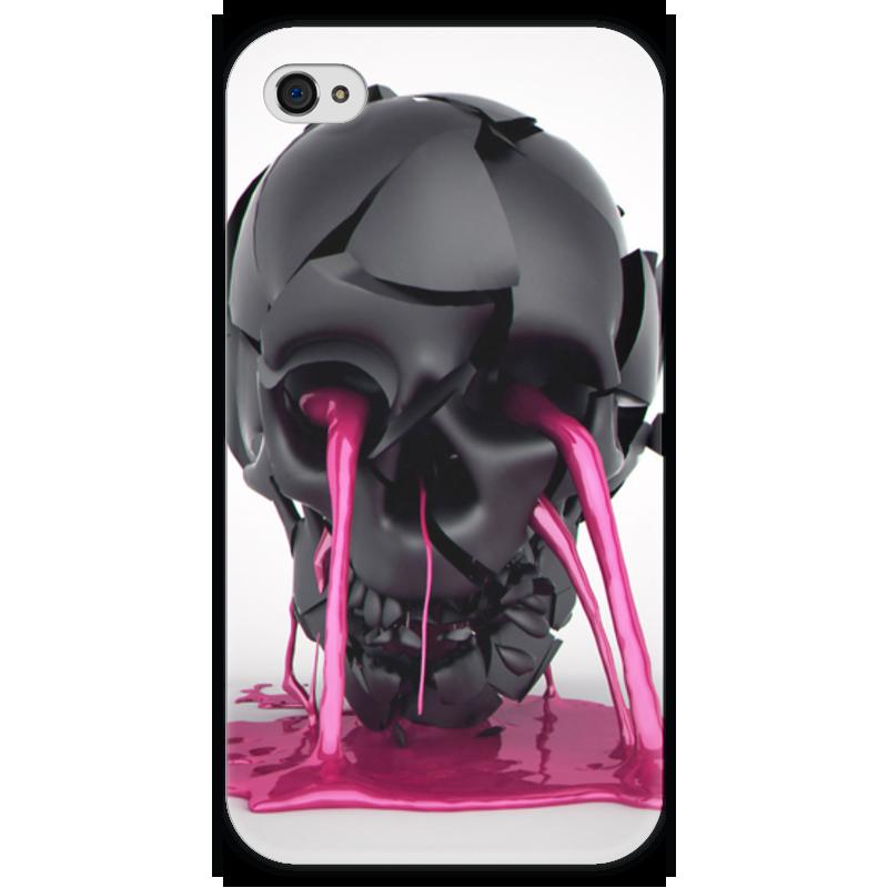 Чехол для iPhone 4 глянцевый, с полной запечаткой Printio Plastic skull чехол для iphone 4 глянцевый с полной запечаткой printio эфиопка