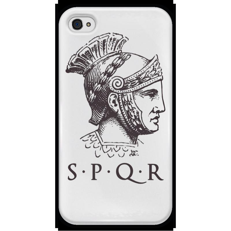 Чехол для iPhone 4 глянцевый, с полной запечаткой Printio Римская империя