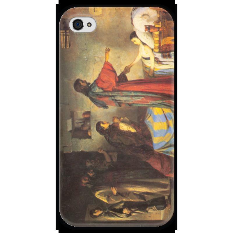 Чехол для iPhone 4 глянцевый, с полной запечаткой Printio Воскрешение дочери иаира чехол для iphone 4 глянцевый с полной запечаткой printio эфиопка
