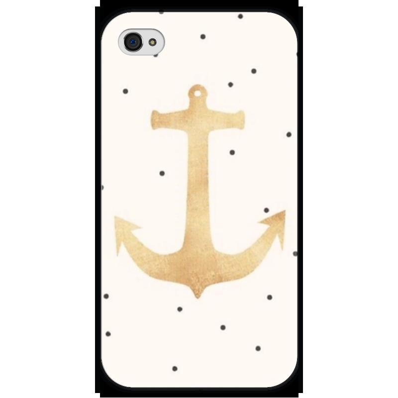 Чехол для iPhone 4 глянцевый, с полной запечаткой Printio Морской якорь чехол для iphone 4 глянцевый с полной запечаткой printio эфиопка