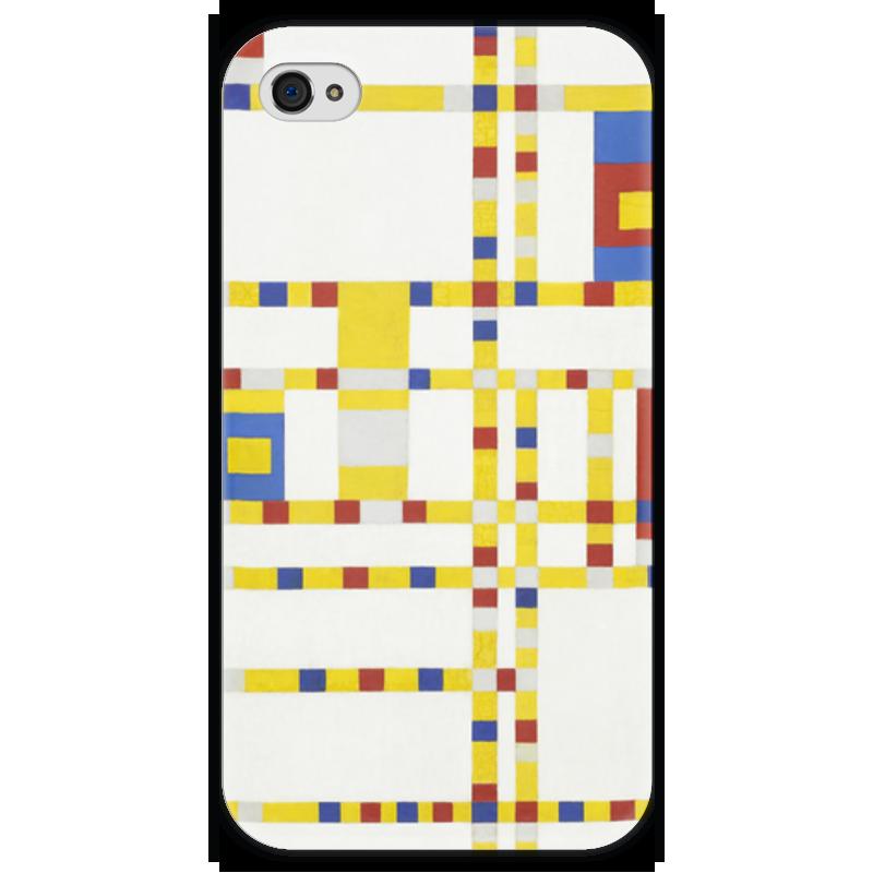 Чехол для iPhone 4 глянцевый, с полной запечаткой Printio Бродвей буги-вуги (питер мондриан) чехол для samsung galaxy s5 printio бродвей буги вуги питер мондриан